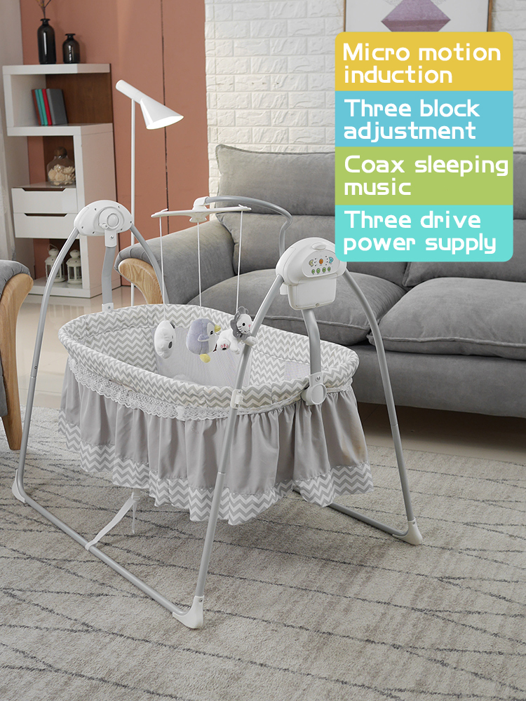 Fast Ship! Baby Newborn Rocking Bed With Music Baby Electric Cradle Sleep Basket Shake 0-36 Monthbaby Intelligent Swing