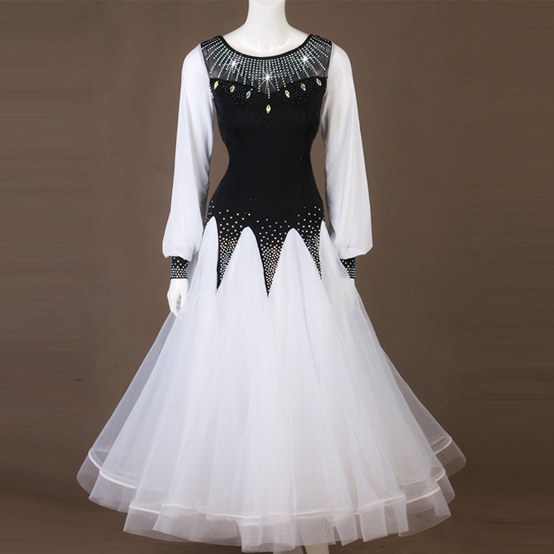 Ballroom Dance Competition Dresses Women Elegant Waltz Standard Dance Foxtrot Performance Clothing Customized Costumes DC3350
