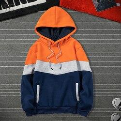 Hip Hop Hooded Hoodies Men Fleece 2020 Autumn Casual Patchwork Sweatshirts Male Brand Streetswear Jackets Harajuku Oversize 4XL