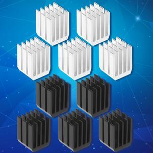 5Pcs/Set 9*9*12mm Aluminum Cooling Heat Sink Chip RAM Radiator Heatsink Cooler R9JA
