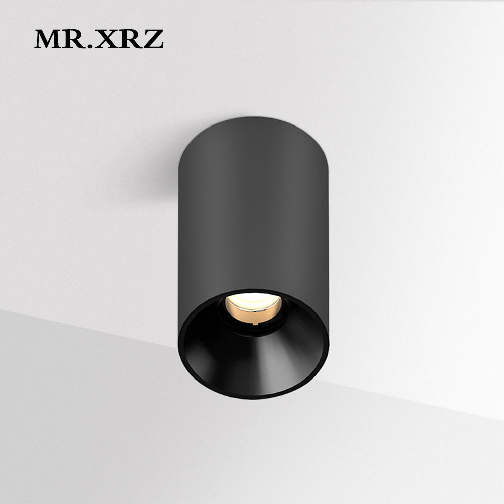 MR XRZ 10W Geek Surface Mounted COB LED Spotlight AC 220V to 240V Round Adjustable Ceiling Spot Lamps For Home Indoor Lighting