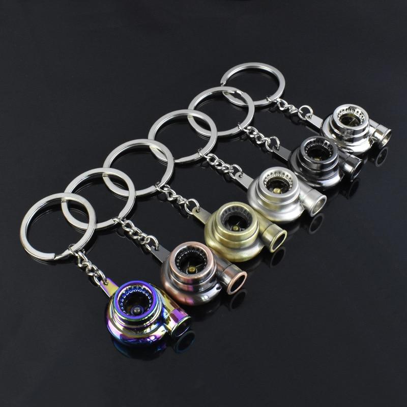 Лидер продаж, брелок для ключей с турбокомпрессором, брелок для ключей с турбиной, Модный повседневный брелок для ключей унисекс, аксессуар...