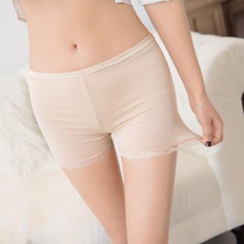 Nowe damskie miękkie majtki bezszwowe bezpieczeństwo krótkie spodnie gorąca sprzedaż lato pod spódniczką spodenki modalne lodowy jedwab oddychające krótkie rajstopy tanie i dobre opinie hengsong POLIESTER CN (pochodzenie) underwear Bezszwowy Antybakteryjny underwear women pants plus size under skirt shorts safety shorts