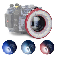 Waterproof Camera Flash Ring Light Underwater 40m 130ft Round Speedlite Flash for Seafrogs waterproof camera Housing case