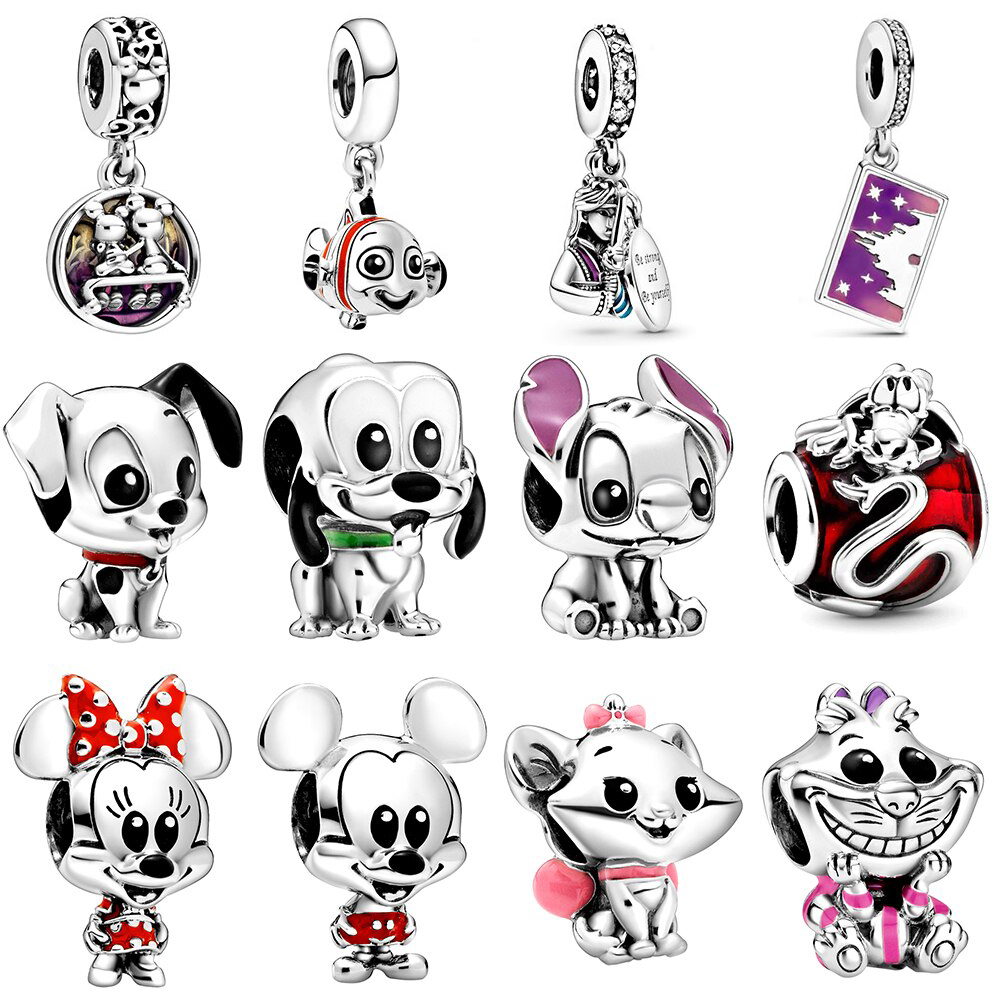 2020 Spring NEW 100% 925 Sterling Silver Charm Stitch Pluto Nemo Hela Pendant Fit Diy Bracelet Women Original Jewelry Runes Gift