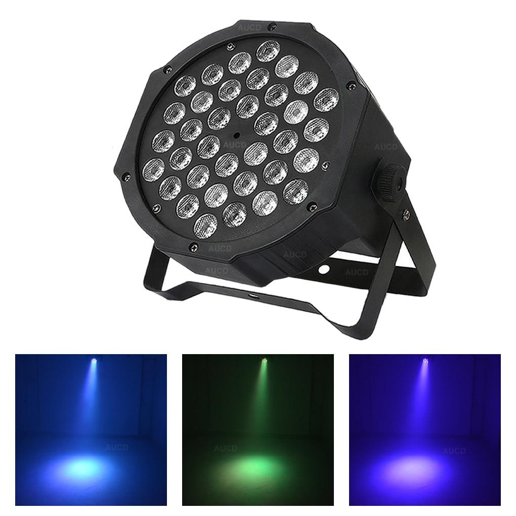 AUCD Mini 36W Red Green Blue LED PAR Lamp DMX Disco Ball Spotlight DJ RGB Wedding Party Show Stage Spot Strobe Lights LE-Par36