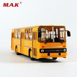 Juguete para niños, modelo Chico, 1/43, aleación de fundición, ruso, ruso, modelo amarillo, IKARUS-260 de autobús de dos pisos, modelo 23cm