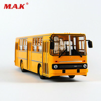 Kid Model Toys for Boys 1/43 Diecast Alloy Soviet Russia Car Model Yellow Double decker Bus IKARUS 260 Model 23cm