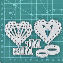 YaMinSanNiO Heart Dies Ring Metal Cutting New 2019 for Card Making Scrapbooking Embossing Stencil Wedding