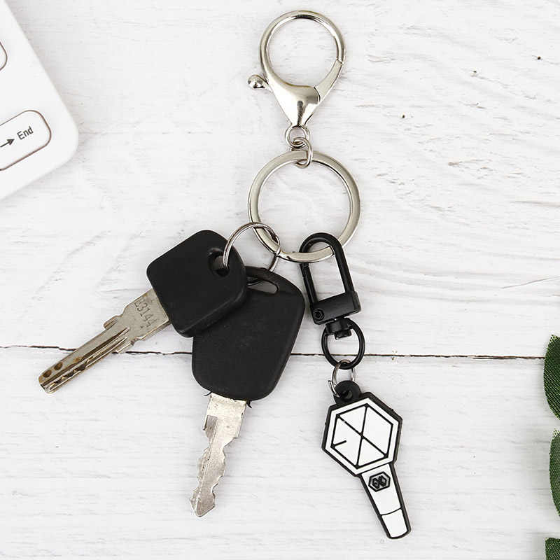 Blackpink Kpop الألبوم مرتين EXO GOT7 سبعة عشر مرتين المفاتيح الاكسسوارات مفتاح ميدالية مفاتيح ذات حلقة لطيف قلادة كيرينغ