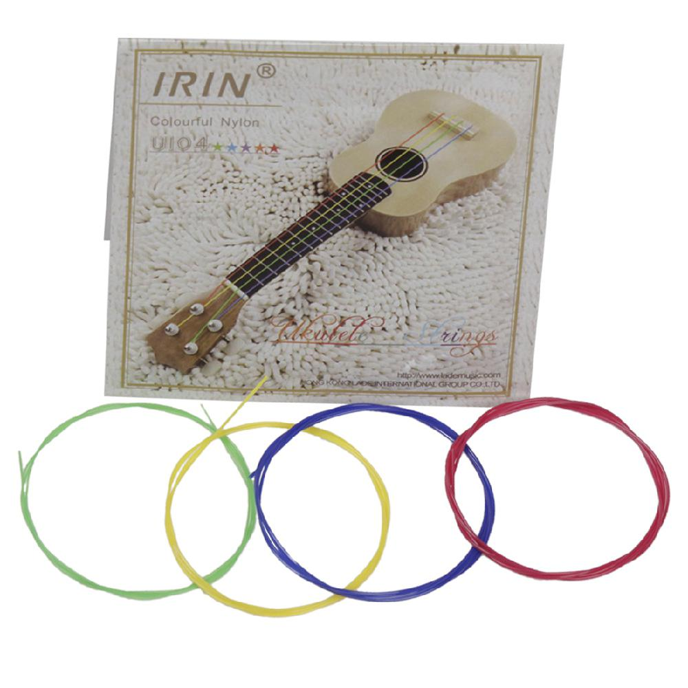 IRIN 4pcs Ukulele Guitar Strings Set Colorful Nylon Strings 0.56mm/0.71mm/0.81mm/0.56mm For 21/23/26 Inch Ukulele Universal