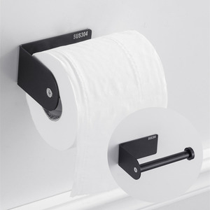 Image 3 - Nero Supporto Di Carta 304 In Acciaio Inox Barra di Tovagliolo Del Tessuto Rack per Bagno Cucina WC Igienica Tovagliolo Di Carta Rotolo di Supporto stand