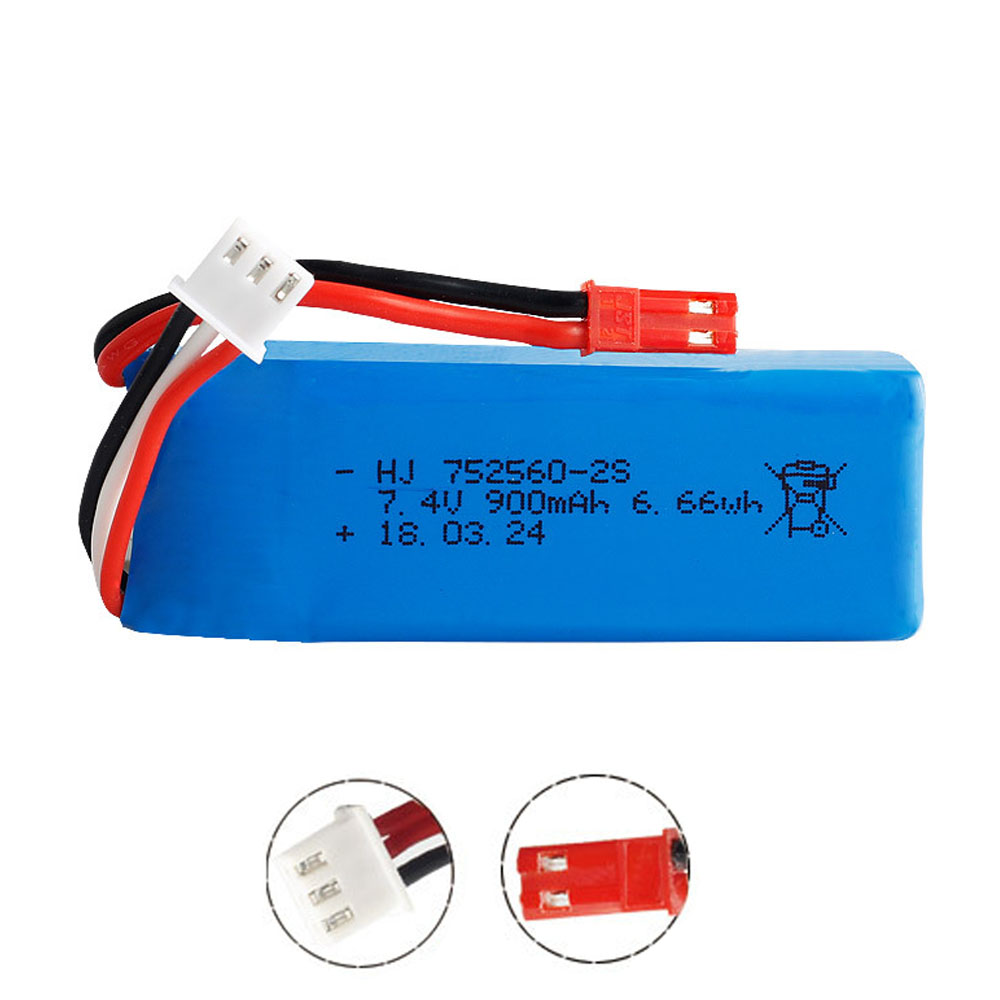 <font><b>7.4V</b></font> <font><b>900mAh</b></font> Lipo <font><b>battery</b></font> for XK X520 XK X420 6 Channels Brushless Aileron <font><b>RC</b></font> airplane toys spare parts <font><b>7.4V</b></font> 2S 752560 <font><b>battery</b></font> image