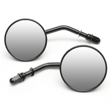2pcs Classic Retro Motorcycle Round Rear View Mirror For Harley Cross Bones Dyna Electra Glide Sportster Side