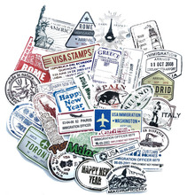 60PCS pack AirplaneTravel Stamp Waterproof Sticker For phone Notebook Keepsake Luggage Carrier Comput LAPTOP DIY