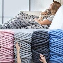 Hilo de algodón súper grueso de 1000g, lana de Merino alternativa DIY, manta voluminosa tejida con las manos, hilo de tejer a mano