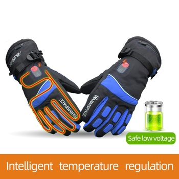 Warmspace 7.4V 4000MAH Electric Rechargeable Heat Gloves Ski Lithium Battery Winter Warm Gloves Heated for Skiing Cycling Riding 3000mah rechargeable battery pu leather windproof winter warm ski outdoor work motorcycle cycling electric heated hands gloves