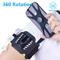 Sports Armband Case for iPhone X 8 7 XS MAX Universal Rotatable Wrist Running Sport Wristband for 4-7 inch Sports Wristband Cellphones & Telecommunications