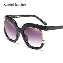 KarenHeather 2021 Fashion Oversized Sunglasses Luxury Eye Glasses Women Black Pink UV400