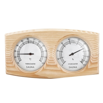 Sauna Room Wood Thermometer Hygrometer Steam Sauna Room Thermometer Instrument Humidity Meter Sauna Temperature Resistant Access