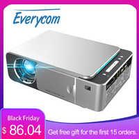 Everycom-proyector de vídeo LED T6 HD 720P, dispositivo portátil con opción HDMI, Android, wi-fi, compatible con 4K Full HD 1080p, cine en casa