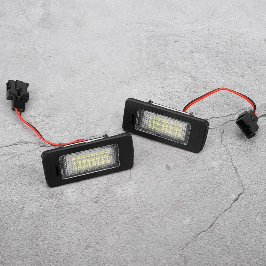 LED License Plate Light Signal Lamp Fits for A1 A4 A5 A6 A7 4G0943021 Replacement License Plate Light