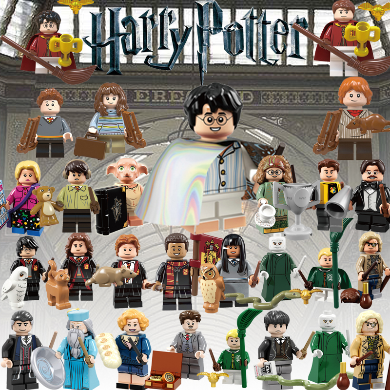 Minifigured Legoed Harryed Potters Building Blocks Ron Hermione Filch Hogwarts Jacopo Queenie Newt Tina Children Toys Gifts