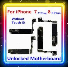 """Iphone 7 için 8 4.7 """"anakart Iphone 7 artı 8 artı 5.5"""" anne kurulu Touch ID olmadan temiz ana kurulu güncelleme LTE destek"""