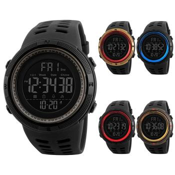 Couple Watches Men Fashion Outdoor Alarm Clock Digital Display Waterproof Calendar Sports Wrist Watch Silicone band relogio inte 1