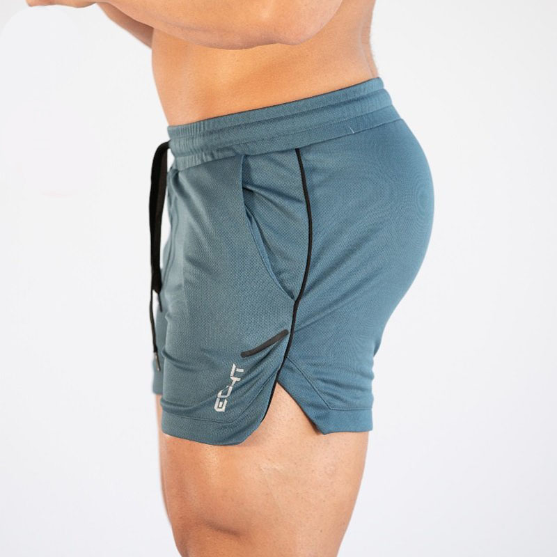GITF Mens Gym Training Shorts Men Sports Casual Clothing Fitness Workout Running Grid Quick-drying Compression Shorts Athletics