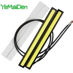 Светодиодная лампа 17 см COB 12 в 6000K DRL, Стайлинг автомобиля, водонепроницаемая светодиодная лента COB, рабочий свет для вождения, дневные ходовы...