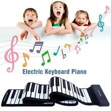 Neu Tragbare Elektronische Hand Klavier Flexible Roll up Keyboard Silikon Klavier SD669