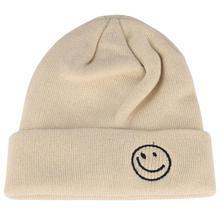 Мужская шапка, шапка для холодной зимы, короткая шапка для девушек, s, Smile Face, вышивка, бини, женские шапки, бини, Mut, Осенняя шапка с черепом, шапка, Холодная Теплая