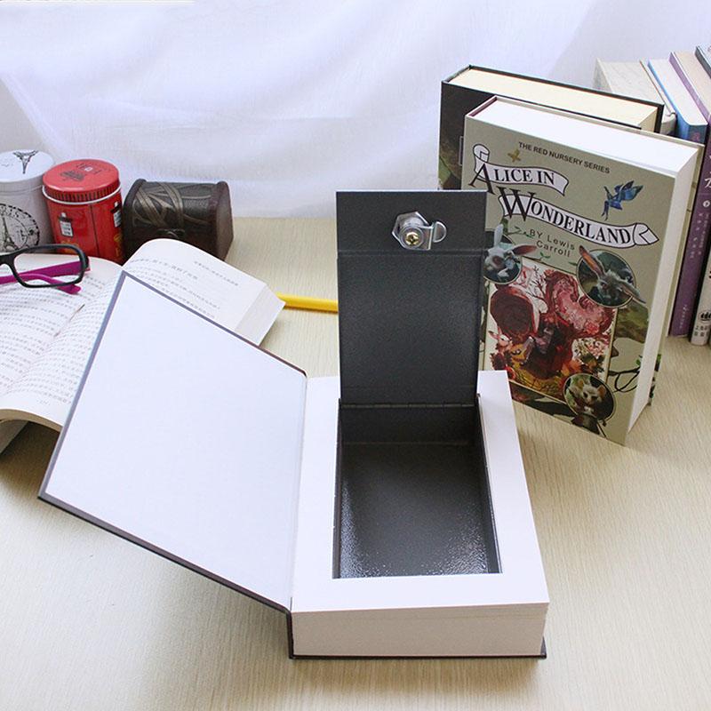 [해외] 가짜 도서 스토리지 박스 미니 금고 사전 도서 은행 돈 보석 숨겨진 비밀 보안 로커 키 또는 비밀 번호 잠금 - 가짜 도서 스토리지 박스 미니 금고