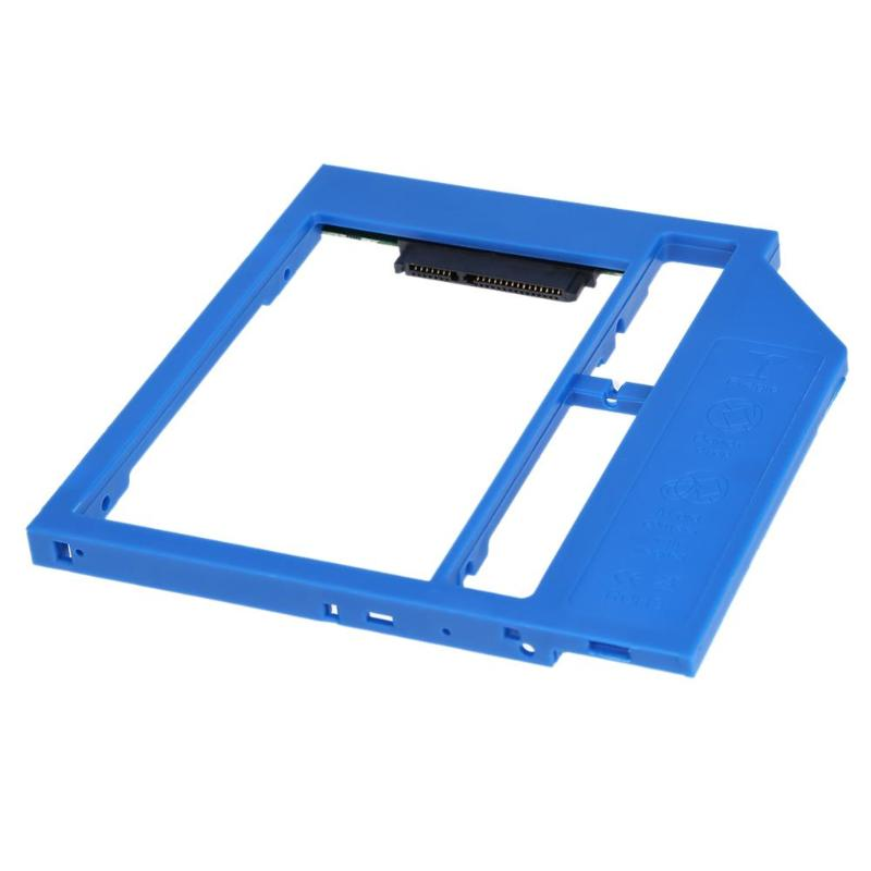 Universal 9.0mm 2nd HDD Caddy SSD Drive Bracket SATA 3.0 Plastic Material For Laptop CD DVD Optical Bay