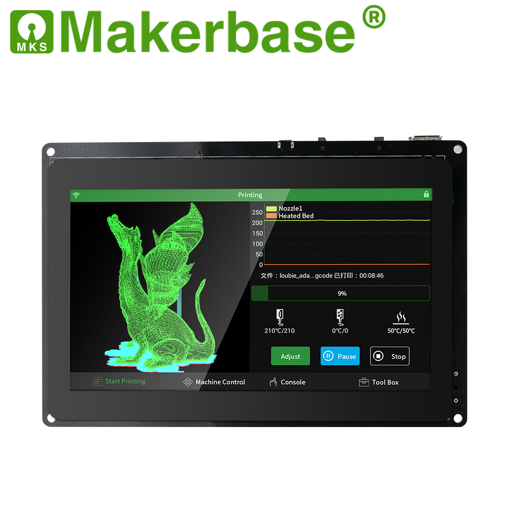 Makerbase MKS Pad7 Capacitive Smart Display 7.0 Inch Android Pad 3D Printer Parts Gcode Visualizer Online Slice Remote Printing