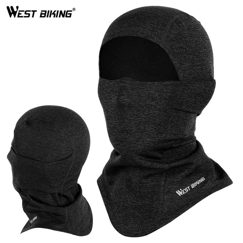 WEST BIKING Winter Sport Cycling Cap Bike Full Face Mask Neck Warmer Men Women Scarf Ski Bicycle Motocycle Fleece Head Cap Hat