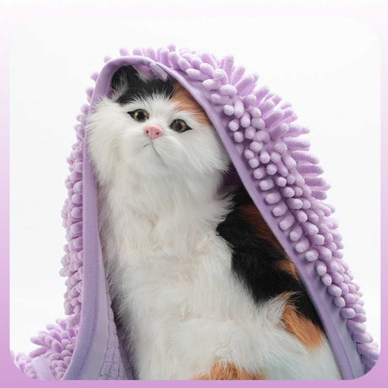 Впитывающее полотенце для собак, полиэстер, хлопок, абсорбирующее полотенце для домашних животных, товары для уборки кошек и собак, домашнее животное, принадлежности