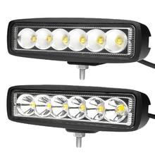 цена на 2pcs 12V/24V 18W White Car Auto Truck 8W LED Work Light Offroad Spot Light Bar ATV 4WD LED running Headlights