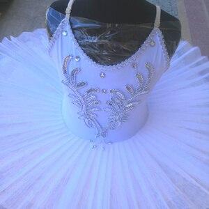 Image 4 - White Ballet Tutu Skirt Ballet Dress Childrens Swan Lake Costume Kids Belly Dance Costumes Stage Professional