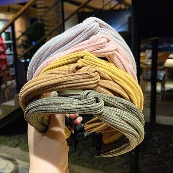 [DISCICI] 2020 New Crisscross Knitting Women Headband Simple Hairpin Girls Anti Slip Fashion Accessories OH1640