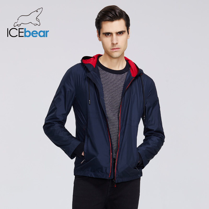 ICEbear 2020 New Men's Spring Clothing Casual Mens Windbreaker Men's Hooded Jacket Brand Men Trench Coat MWF20821I