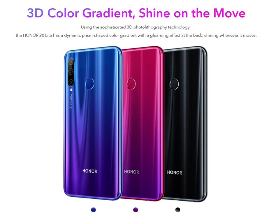 Global Version Honor 20 Lite 4GB 128GB Front 32MP Kirin 710 Octa Core Smartphone  (8)