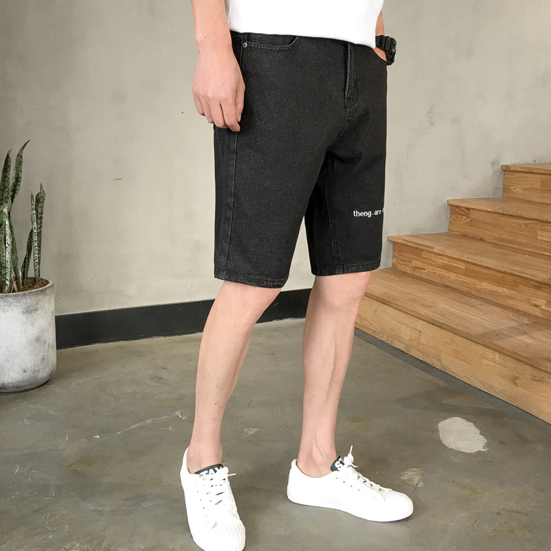 2019 Summer Korean-style New Style Fashion Jeans Male Fifth Pants Shorts Versitile Youth Popularity Denim Shorts Men's