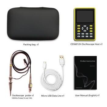 Cleqee 6012 Handheld Digital Oscilloscope 500MS/s Sampling Rate 100MHz Analog Bandwidth Support Waveform Storage 2.4 inch Screen