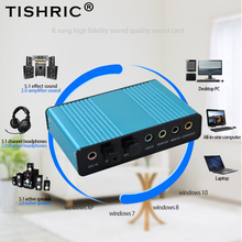 Tishric adaptador de áudio óptico placa de som externo 5.1 usb a 3.5mm fone ouvido estéreo microfone linha spdif para computador portátil