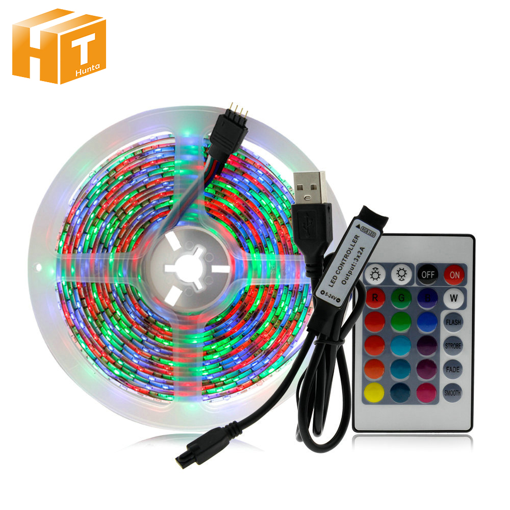 5V 2835 USB LED Strip Light 1M 2M 3M 4M 5M RGB Color TV Background Lighting Decoracion Fairy Lights.