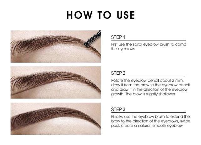 IMAGIC Brand Makeup Eyebrow Automatic Pro Waterproof Pencil Makeup 5 Style Paint Eyebrow Pencil Cosmetics Brow Eye Liner Tools 5
