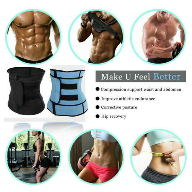 Women Men Fajas Sweat Body Shaper Waist Trainer Cincher Underbust Corset Belt Training Shapewear 4