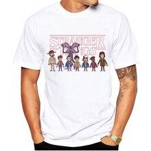 LUSLOS Summer New Mens Stranger Things Short Sleeve Cotton T Shirt